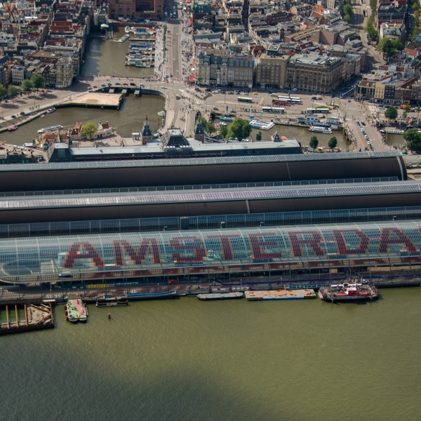 Luchtfoto Amsterdam Centraal Station